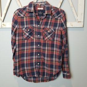 XS American Eagle boyfriend fit plaid shirt